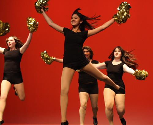 The Golden Dazzlers (JV dance team) performs to \
