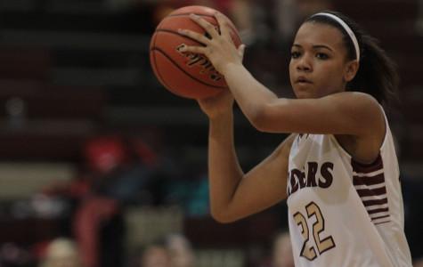 Fresh shooter: ninth grader Jennifer Parker lands spot on varsity girls team