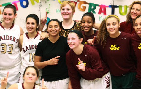 Varsity girls basketball wins district, first round playoff game Monday, Feb. 10