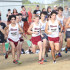 The varsity boys take off at the start of the Cedar Park Invitational.