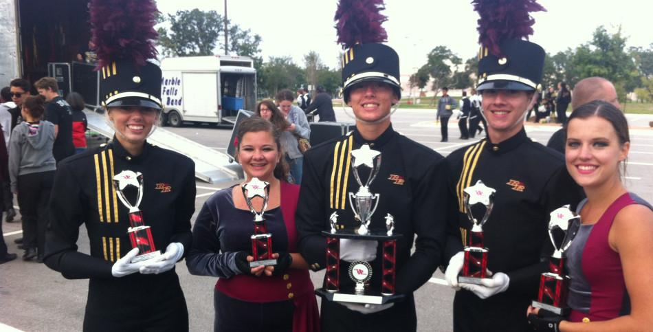 Marching band takes fifth at contest