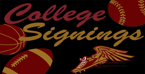 Seniors sign for college