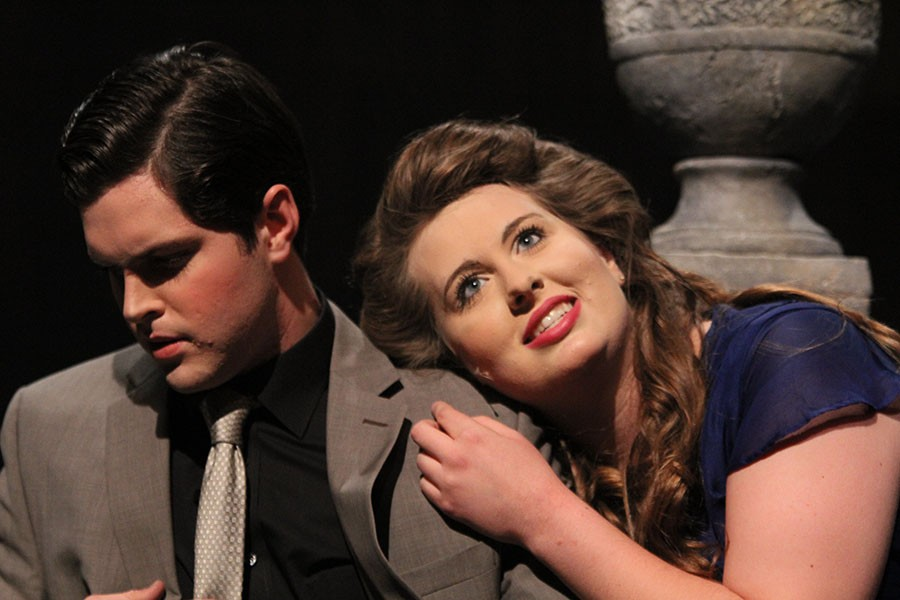 Weston Bonnet and Audrey Dickerson are Sky Masterson and Sarah Brown in Guys and Dolls.