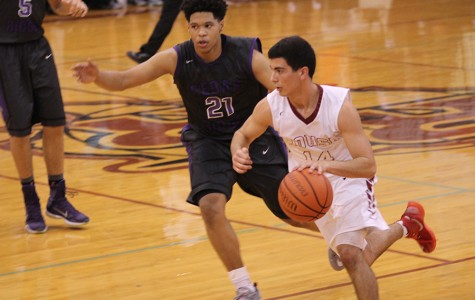 Varsity boys basketball in second place after first round of district play