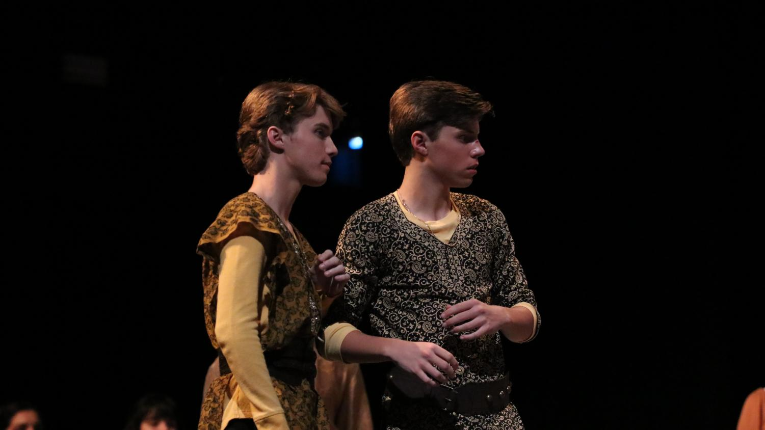 BROTHERS IN ACTION Juniors Will and Sam Ingram play the roles of Antipholus of Syracuse and Ephesus in theatre's fall show, Comedy of Errors