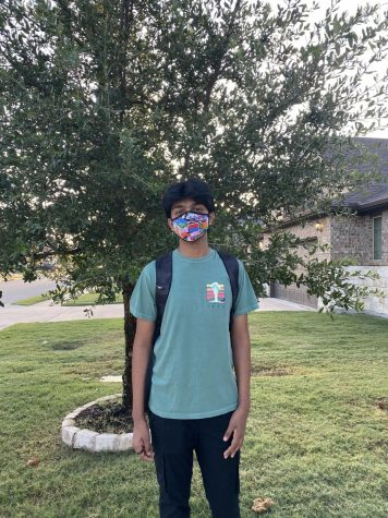 For the first time in over a year, Pranav Boopalam suits up for his first day of junior year.